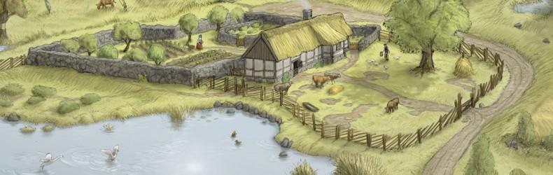 Fattoria con mulino nel XVIII secolo